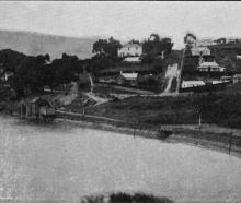 Burkes, a well-known residential suburban area on the Dunedin-Port Chalmers railway. - Otago...