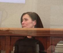 Emma Selcraig in the dock in the Dunedin District Court. PHOTO: ROB KIDD
