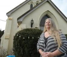 Julie Simpson at her Weston-Ngapara Rd home yesterday, where two intruders gained entry on...