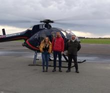 Preparing for takeoff is (from left) sustainability officer Kate Dunlevey, compliance technical...