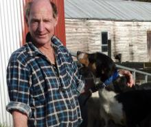 Graham White, of Mosgiel, is looking forward to having a look at the Irish National Sheep Dog Trials and then judging at his fifth transtasman test dog trialling competition in Nelson in November. He has Rob (2), Lad (6) and Boy (13 months). Photo:..