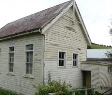 The exterior of the historic Outram School building at the Taieri Historical Museum and Park....