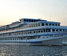 The river cruise ship Pyotr Tchaikovsky