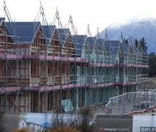 Some of the 20 new KiwiBuild terrace houses at Northlake, Wanaka. Photo: Mark Price