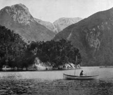 Surprise Cove, Lake Manapouri. - Otago Witness, 29.8.1919.