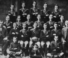Arthur Street School team, winners of the primary schools' rugby championship, 1919. Back row ...
