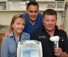 OceanaGold Macraes health, safety and training manager Bernie Murphy (left), Dunedin Hospital...
