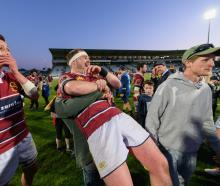 Southland players and fans were in disbelief after thumping Counties-Manakau last night. Photo:...