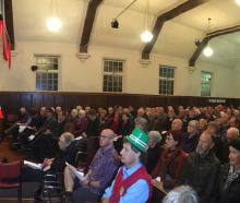 Cr Jim O'Malley speaks at the Dunedin candidates meeting in Opoho last night. PHOTO: GERARD O...
