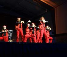 Hip-hop group Diamond, of Rasa School of Dance in Dunedin, battle it out in the mega crew...