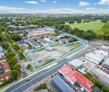 The planned area for townhouses at the corner of Riccarton Rd and Deans Ave.