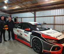 Jordan Michels and his supporter, Peter Williams, beside his new vehicle  which will get its...