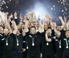 The 2015 world champion All Blacks have been installed as early favourites to retain their again...