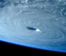 Typhoon Maysak is seen in this picture taken from the International Space Station. REUTERS/ESA...