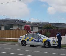 Police have taped off three homes in St Martins after an assault. Photo: Geoff Sloan.