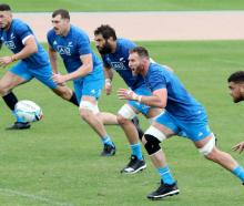 The All Blacks have been ramping up the intensity at training this week. Photo: Getty Images