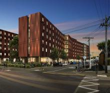 An artist's impression of the new hall of residence which will replace Te Rangi Hiroa. Photo:...