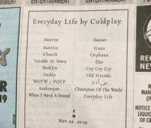 Coldplay are promoting their upcoming album the old-fashioned way, like with this classified ad...