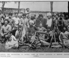 Fighting the Bolsheviks in Russia: a group of Cuban Cossacks at Kestch, Eastern Crimea. — Otago...