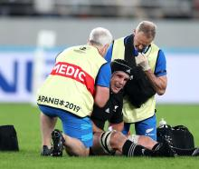 Matt Todd will miss the World Cup semi final after injuring his shoulder against Ireland. Photo:...