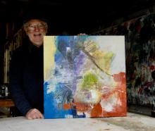 Paul Smith is pictured with If Only, one of his paintings which will feature in the exhibition,...