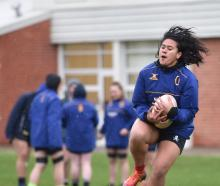 Otago midfielder Kilisitina Moata'ane catches the ball during a training session at Logan Park...