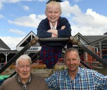 Former St Francis Xavier School pupils Tony (left) and Craig, and present pupil Lucy, are three...