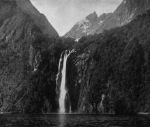 Stirling Falls (150 metres) on the Kimberley Range, Milford Sound. - Otago Witness, 28.10.1919.
