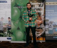 Central Otago viticulturalist Simon Gourley, of Clyde, celebrates his Young Horticulturist of the...