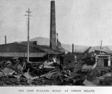 The iron rolling mills at Green Island. — Otago Witness, 18.11.1919. COPIES OF PICTURE AVAILABLE...