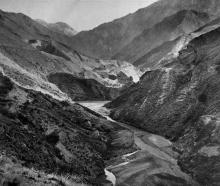 The Moke Creek Gorge, Wakatipu district. - Otago Witness, 18.11.1919.