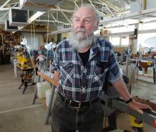 Waitaki Woodturners' Guild president Averill Jamison at the guild's workshop at Oamaru Racecourse...
