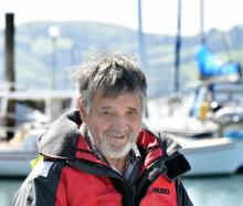 Otago Yacht Club stalwart Vern Hall reflects at the marina yesterday after being given a service...