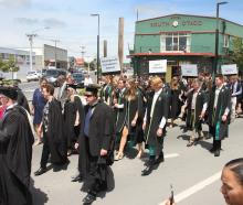 Students studying agriculture, veterinary technician and equine studies paraded down Balclutha's...