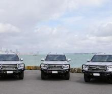 The new bulletproof and 'blast resistant' Toyota land cruisers. Photo: Supplied