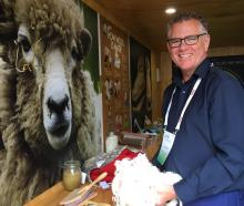 "Campaign for Wool New Zealand trustee Craig Smith in the Wool in Schools ""woolshed"" which has..."