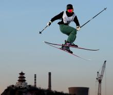 Queenstown freeskier Margaux Hackett at the Air + Style World Cup in Beijing over the weekend....