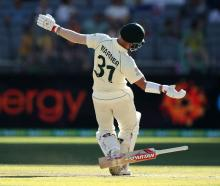 Australia's David Warner is dismissed by New Zealand's Tim Southee. Photo: Getty Images
