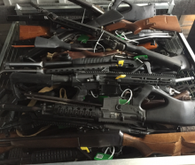 Firearms handed in at an event in Canterbury last weekend. Photo: NZ Police