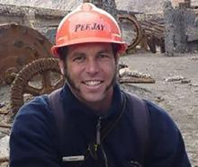 Hayden Marshall-Inman on the island. He was killed in Monday's volcanic explosion. Photo:...