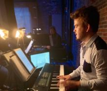 Up and coming pianist, musical director and composer Matt Everingham working on  musical Next to...