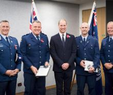 Police Commissioner Mike Bush, Senior Constable Jim Manning, Prince William, Senior Constable...