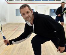 Pirates Squash Club members Matt Morton (left) and Gareth van Coller at the award-winning club...