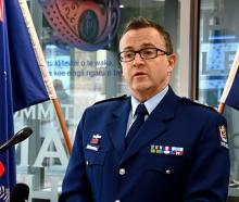 Acting Southern district commander Inspector Darryl Sweeney addresses media in Dunedin yesterday....