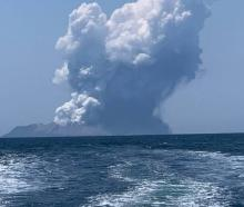 Massive plumes of smoke from Whakaari/White Island. Photo / via zurraspismo on Twitter