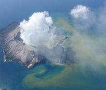 White Island shortly after the eruption. Photo: White Island Flights