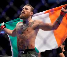 Conor McGregor took just 40 seconds to secure victory in his UFC comeback. Photo: Reuters