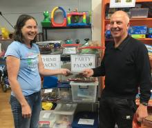Ashburton Toy Library president Anthea Moore received a cheque for $1000 recently from Ashburton...