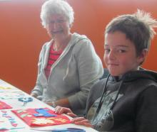 Hayden Ridgen, 9, and his gran Betty King creating a rural-themed scene for their 3D moving...