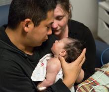Kazu and Ruth Toyoshima with baby Ellie. Photo: Toyoshima family/supplied